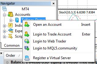 how to open account forex on metatrader platform