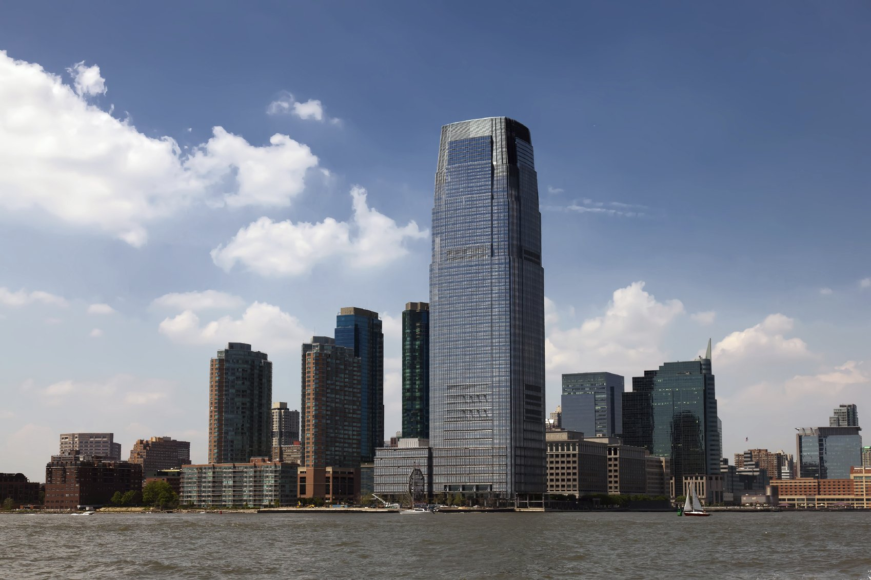 Goldman Sachs Tower in Jersey City, New Jersey on June 1st, 2013. Completed in 2004 the 42-story tower is the tallest building in New Jersey