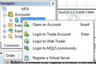 how to open account forex on metatrader platform