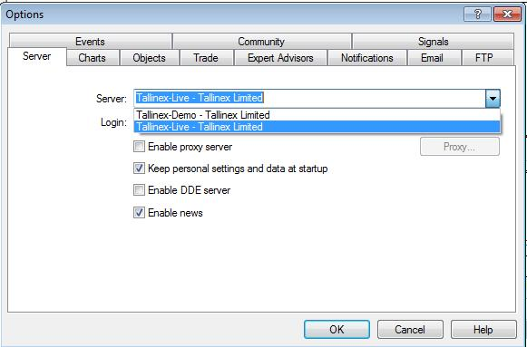 how to change on server box metatrader 4 forex platform