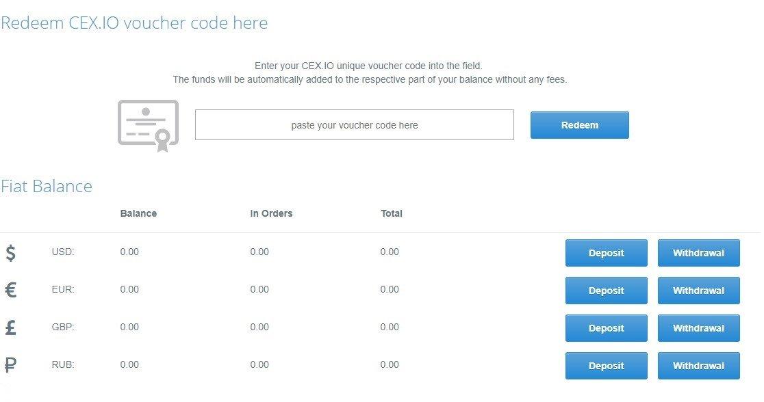 cex_io Deposit Withdrawl