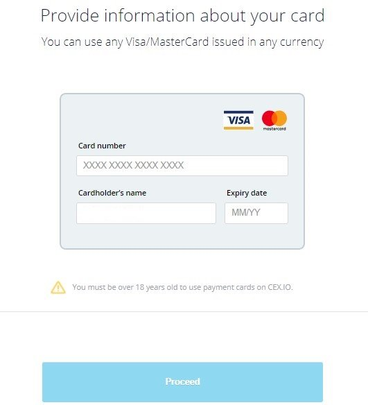 Provide information about Visa/MasterCard