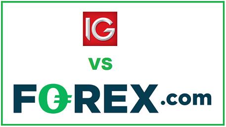 IG Group vs forex.com broker comparison