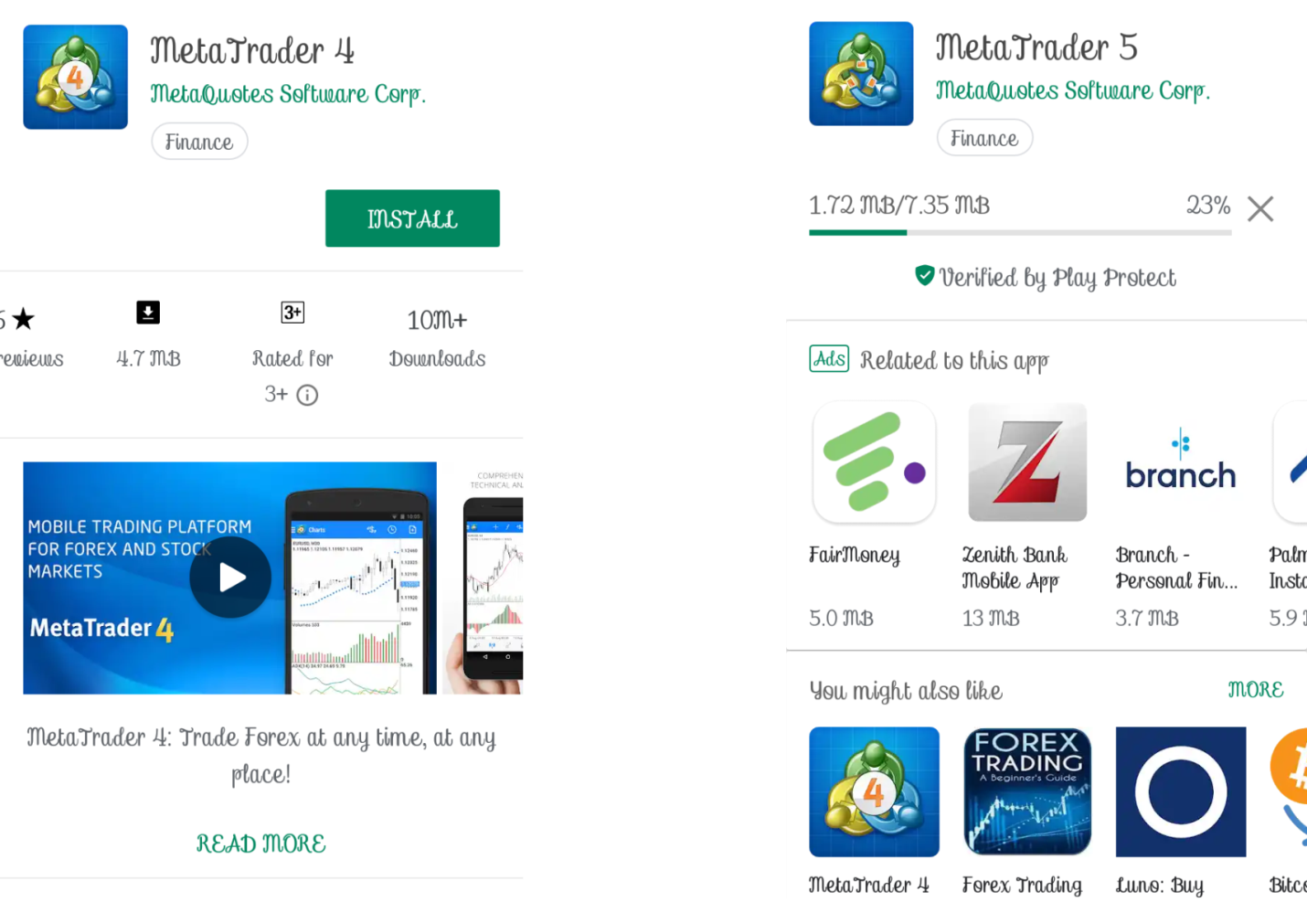 how to start forex trading with android smartphone using metatrader 4 mt5 app