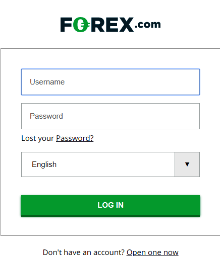 login form forex.com
